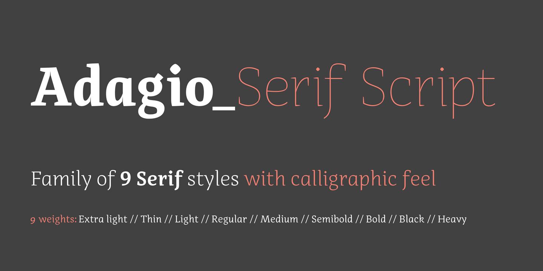 Adagio serif script premium font urban fonts