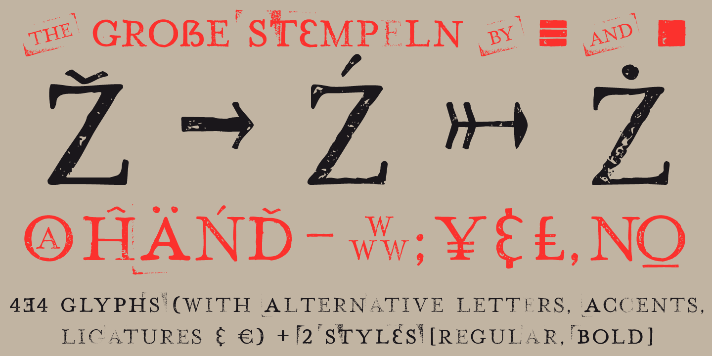 Hand Stamp Play Rough Serif