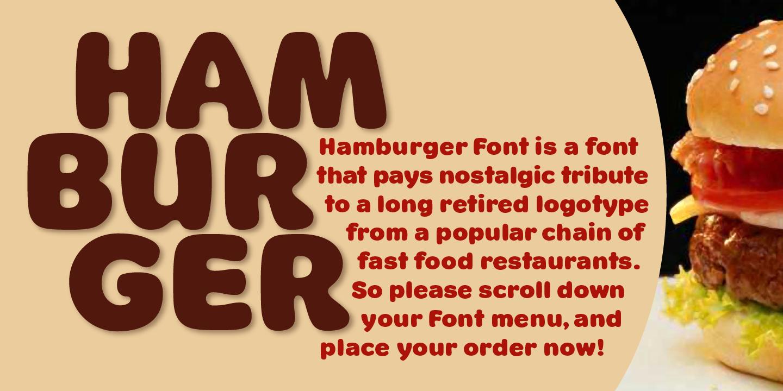 Best sellers premium fonts page 248 urban fonts -  Hamburger Font Bf
