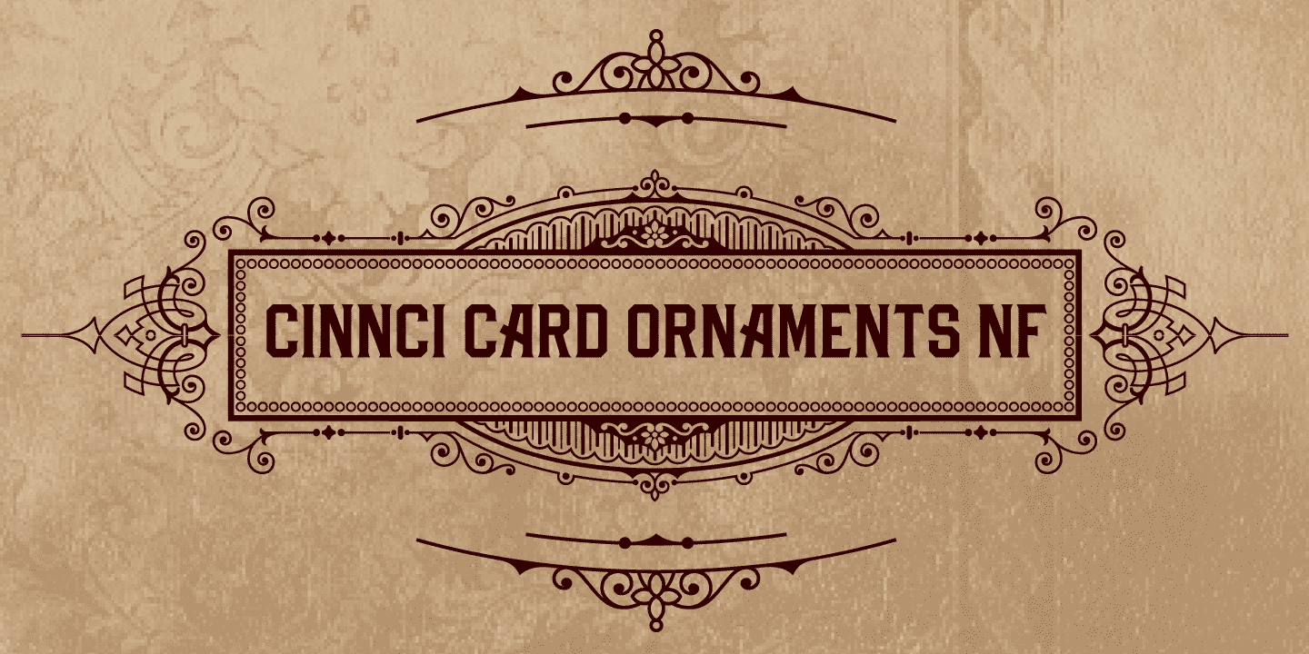 Cinnci Card Ornaments NF