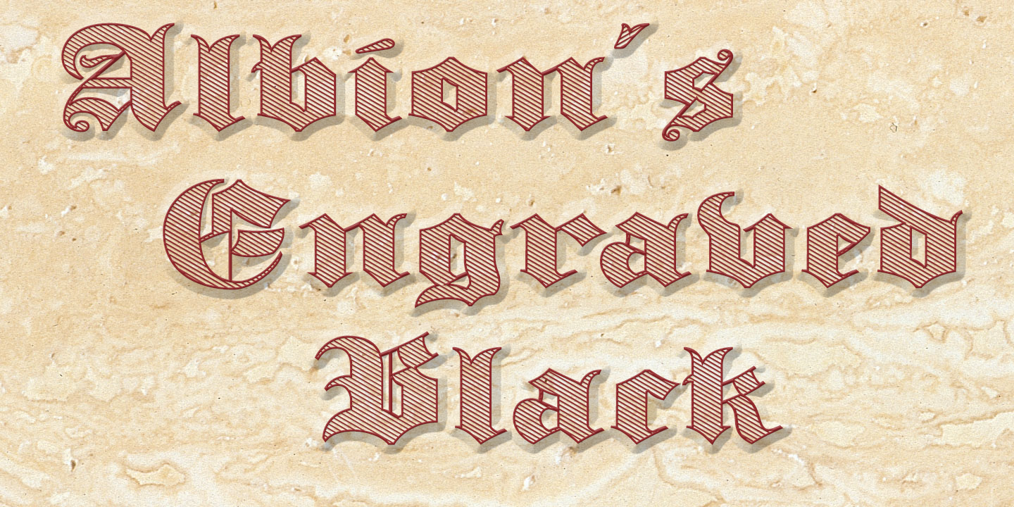 Albion's Engraved Black