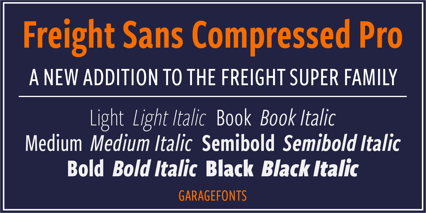 Freight Sans Compressed Pro