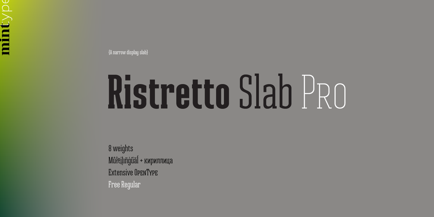 Best sellers premium fonts page 248 urban fonts -  Ristretto Slab Pro