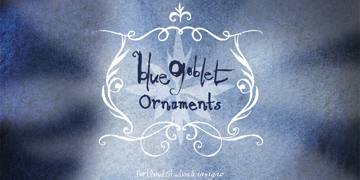 Blue Goblet Ornaments