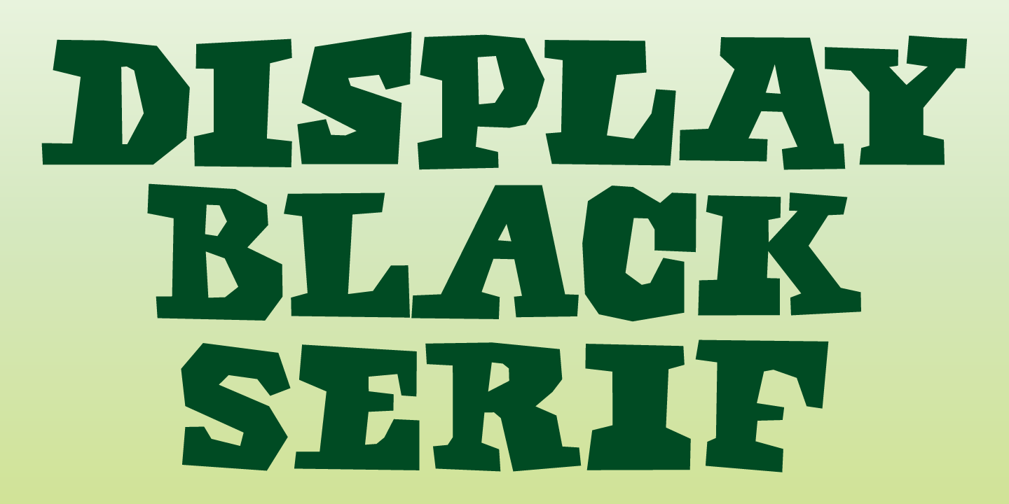 Display Black Serif