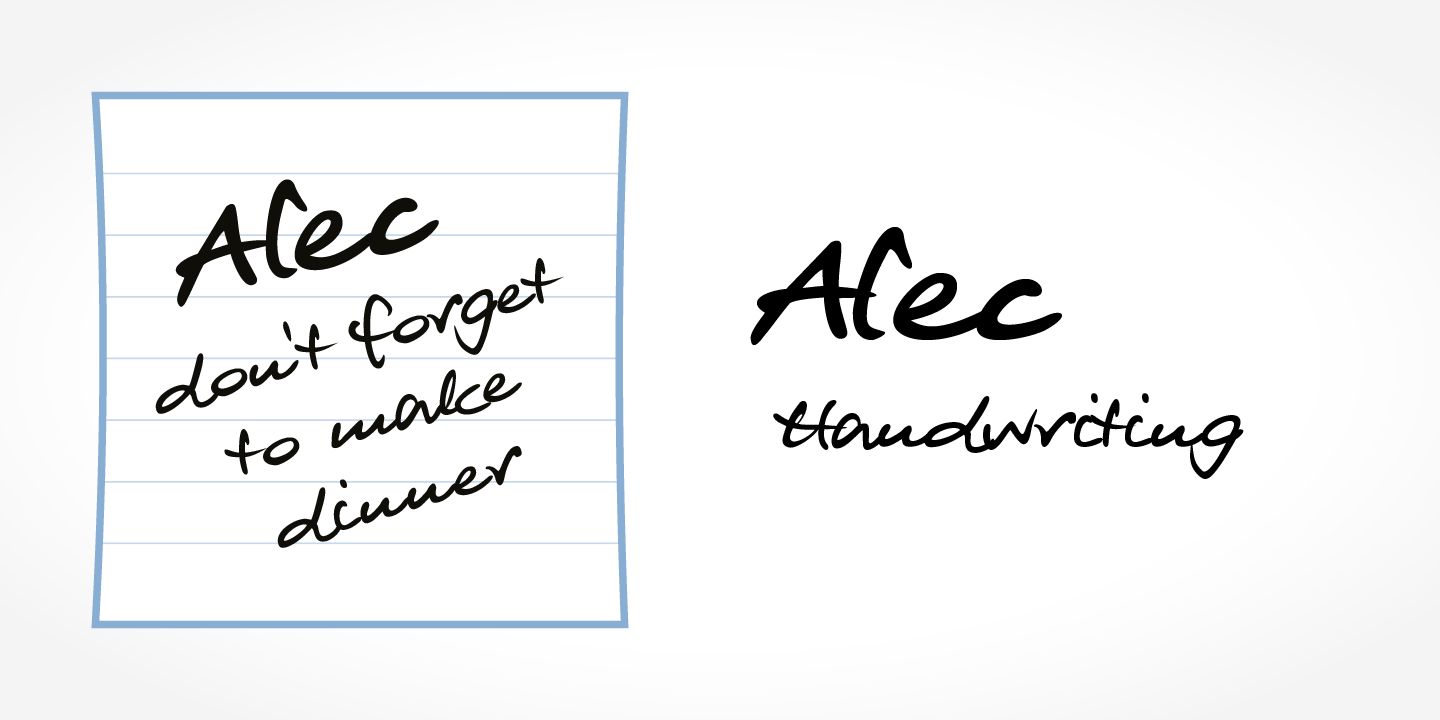Alec Handwriting