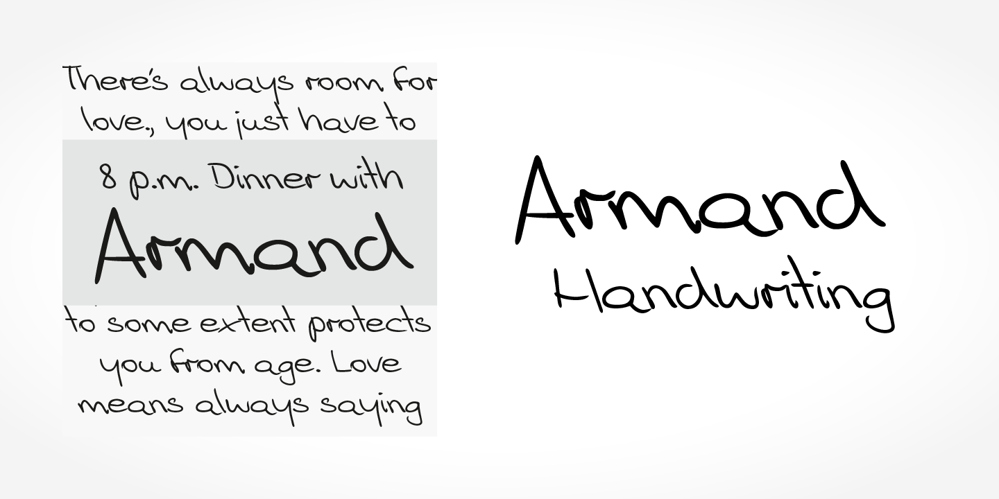 Armand Handwriting