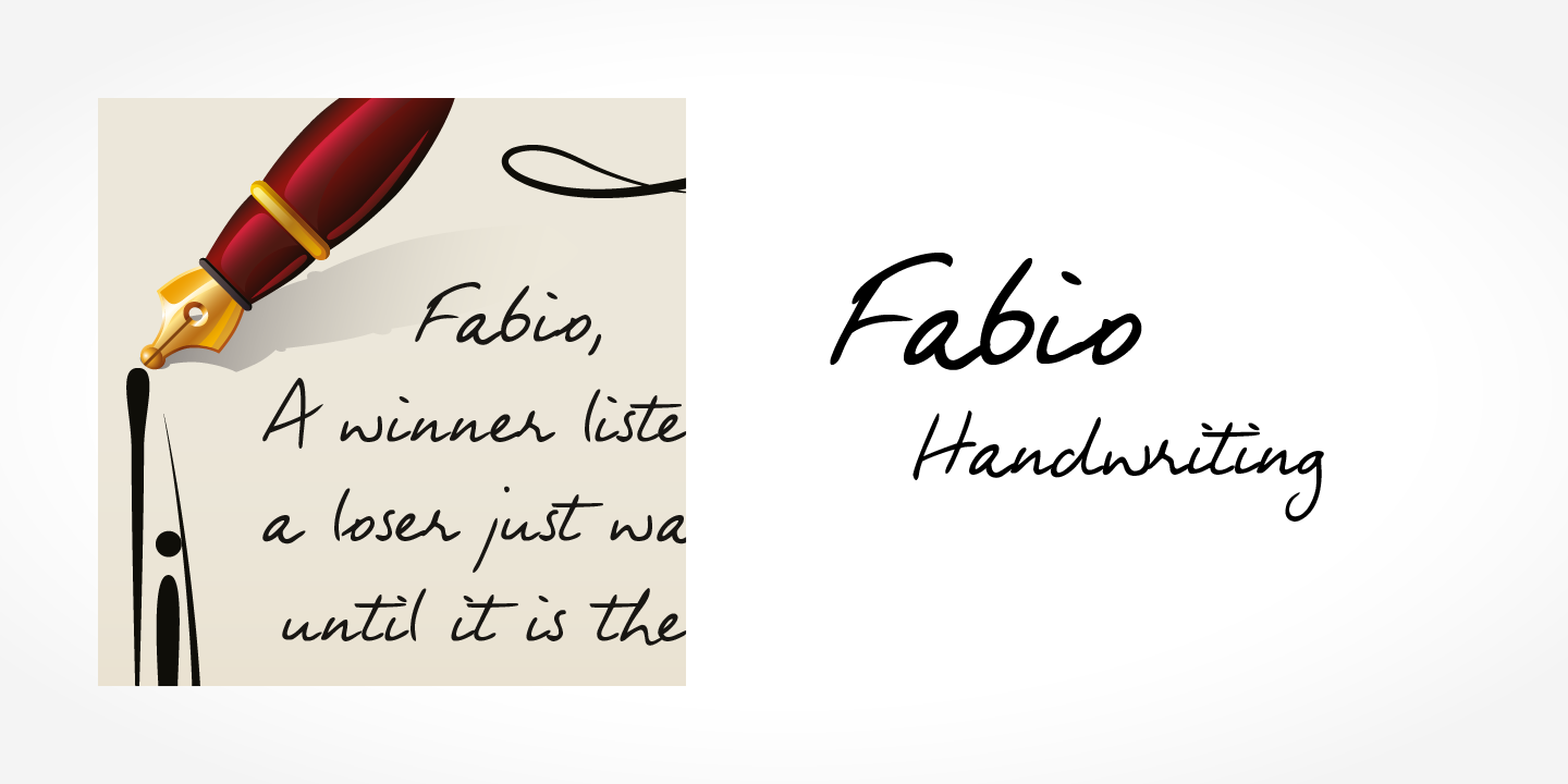 Fabio Handwriting
