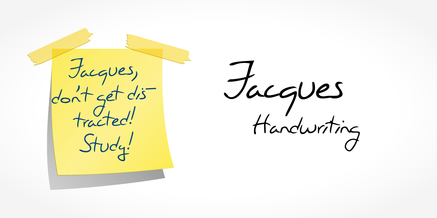 Jacques Handwriting