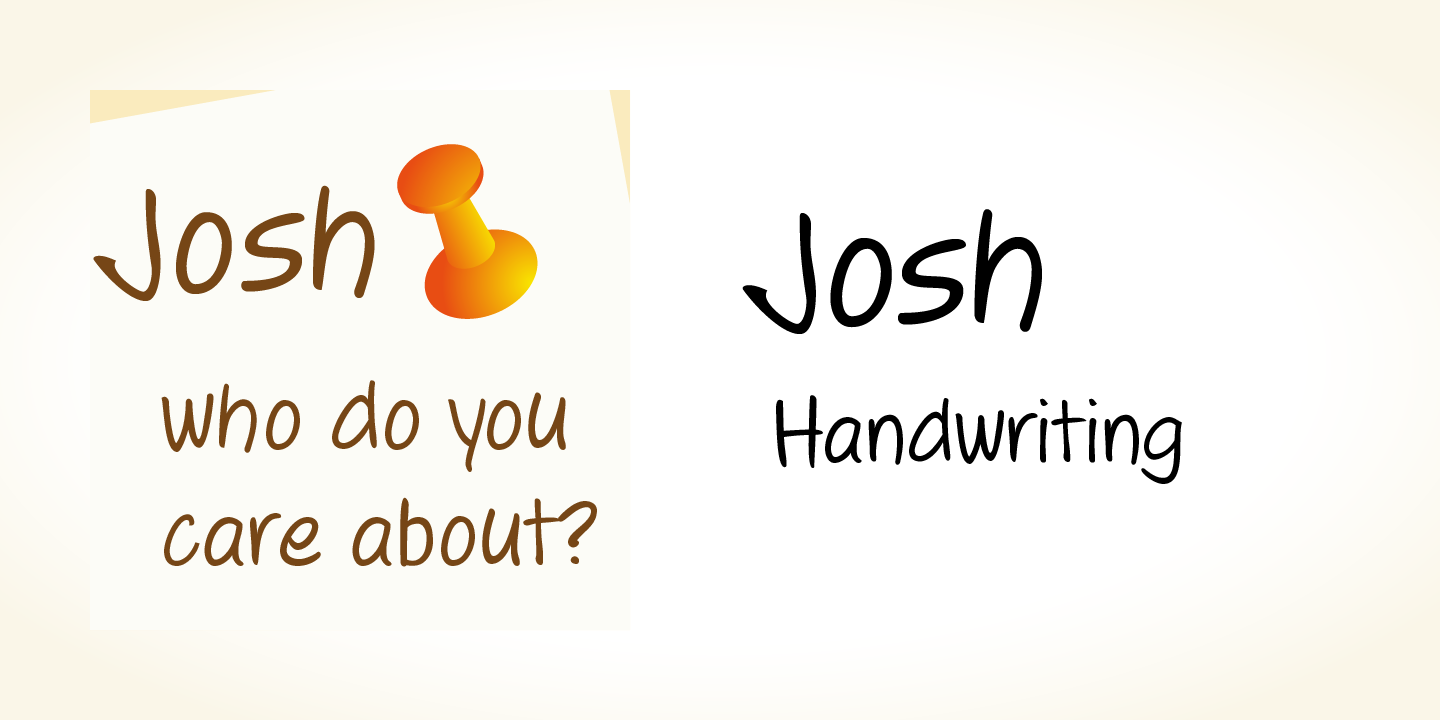 Josh Handwriting