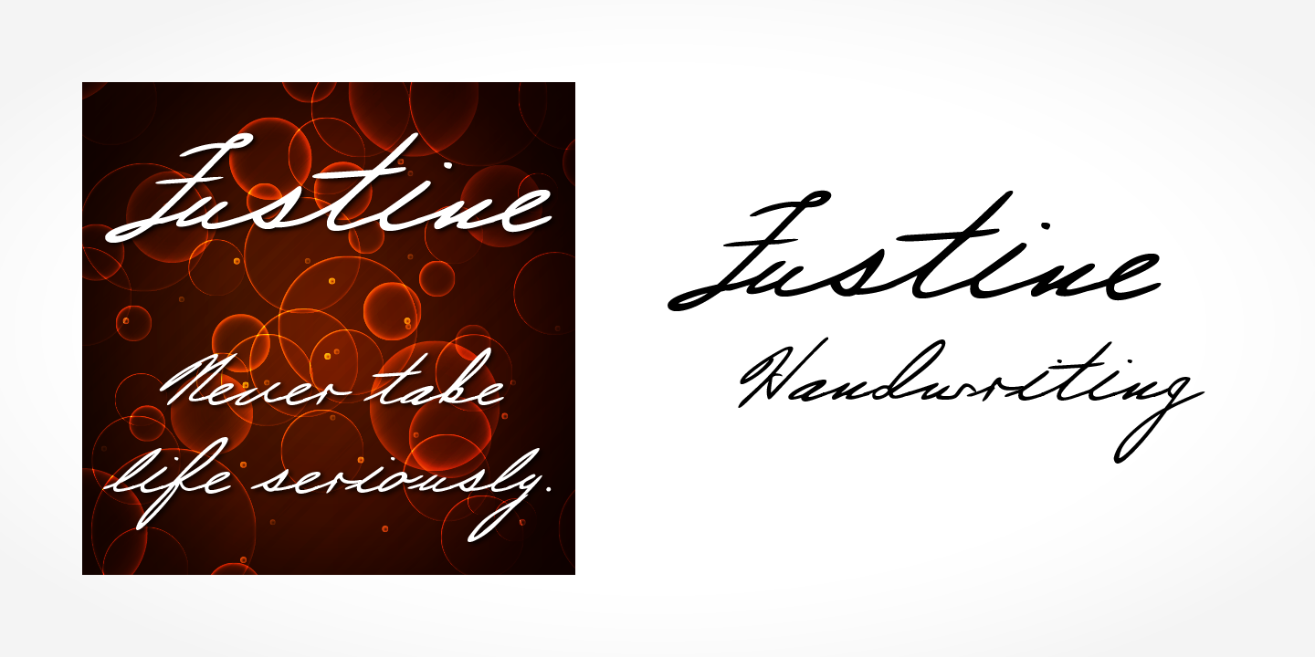 Justine Handwriting