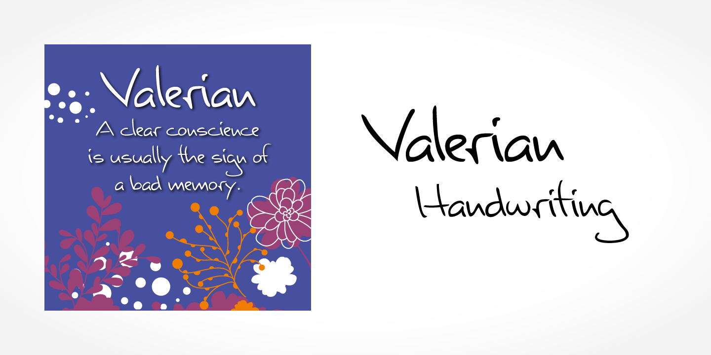 Valerian Handwriting