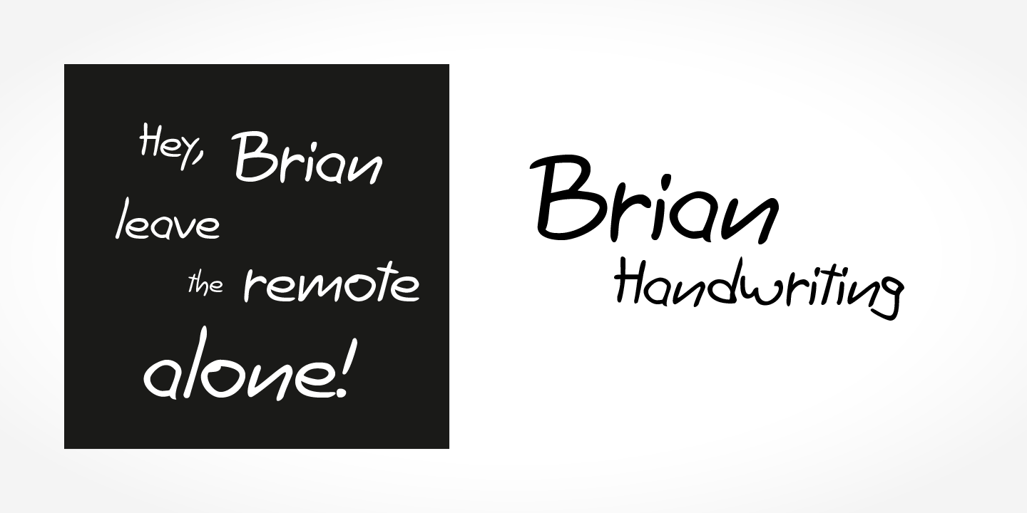 Brian Handwriting