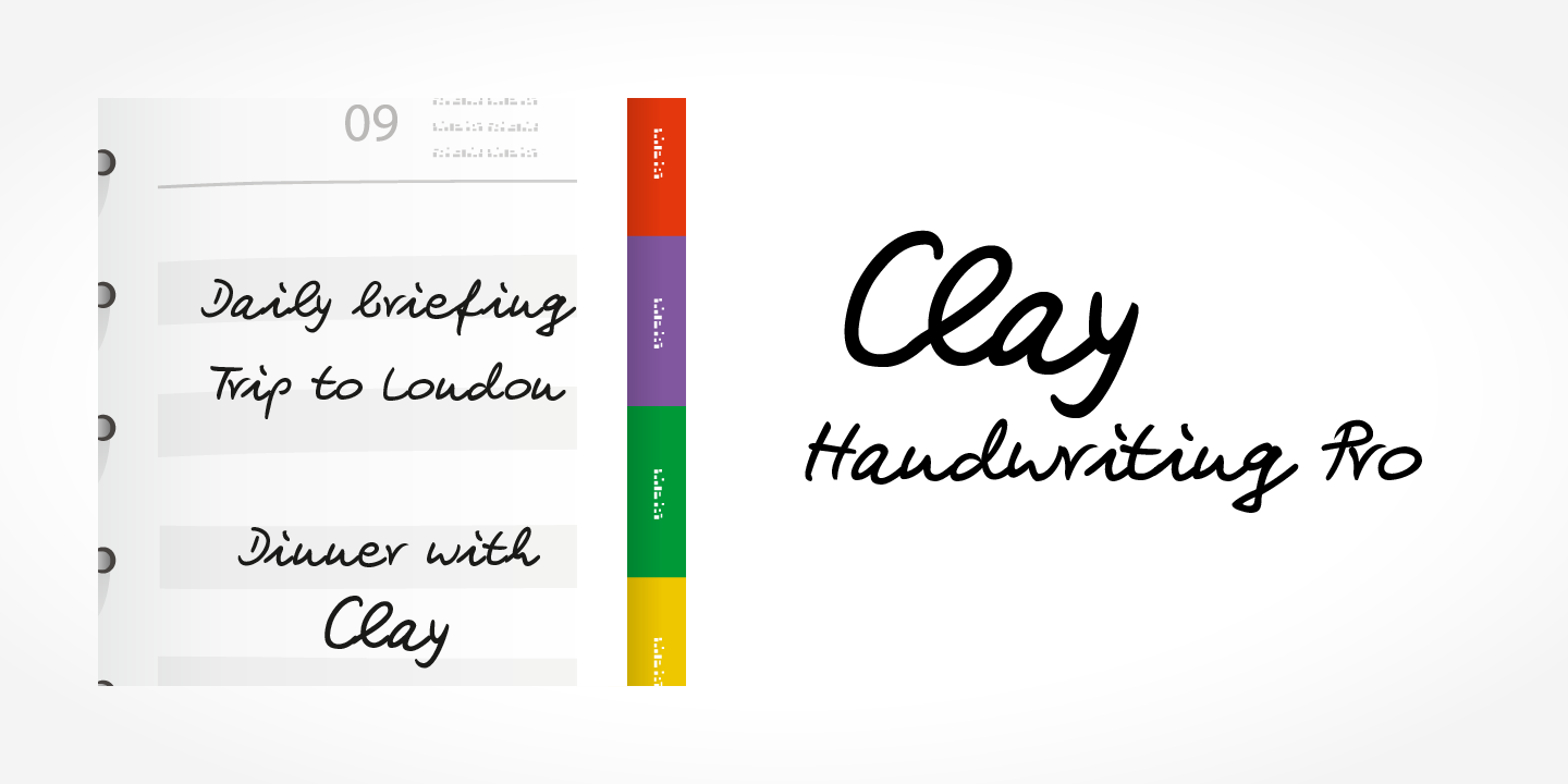 Clay Handwriting Pro