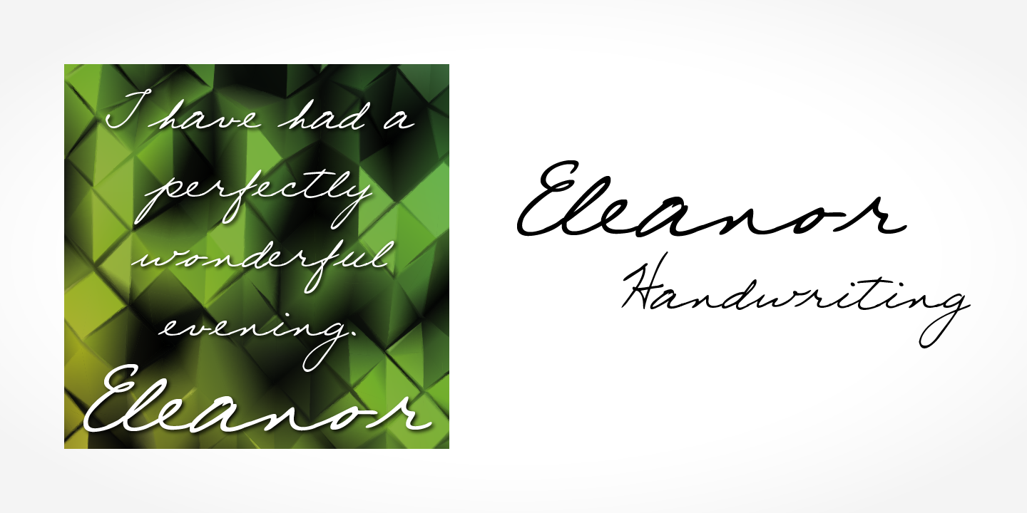 Eleanor Handwriting