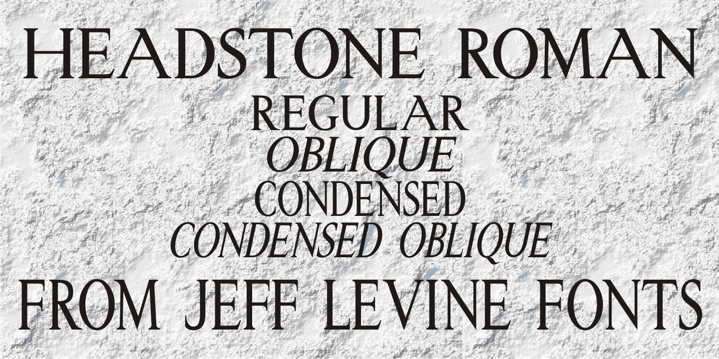 All search results for quotstonequot urban fonts for Headstone lettering