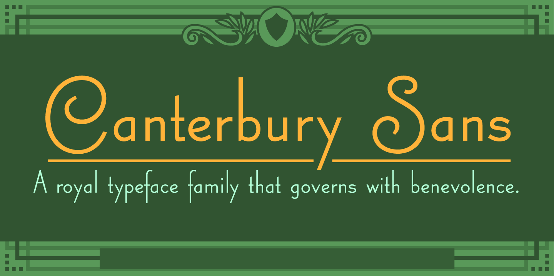 Best sellers premium fonts page 248 urban fonts -  Canterbury Sans Canterbury Sans