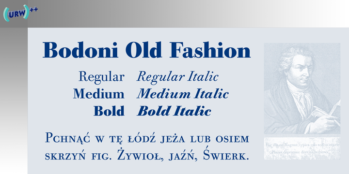 URW Bodoni Old Fashion