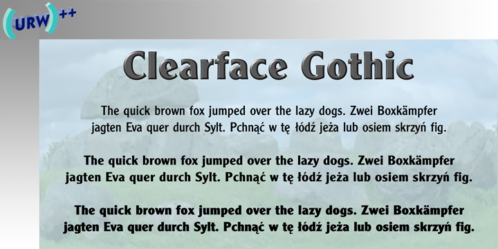 Clearface Gothic