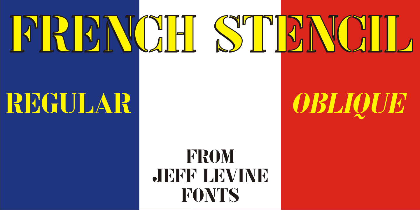 French Stencil JNL