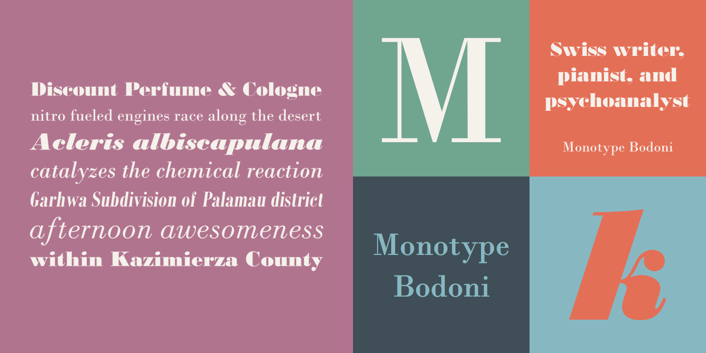 Monotype Bodoni