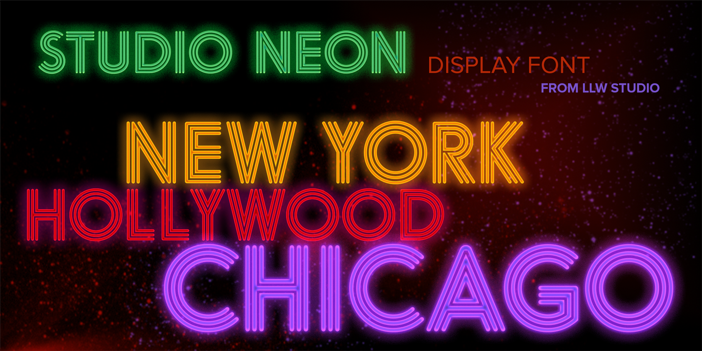 Neon sign font