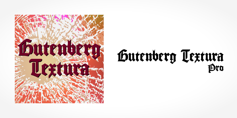 Best sellers premium fonts page 248 urban fonts -  Gutenberg Textura Pro