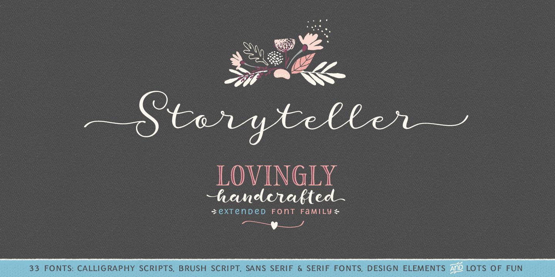 Color art tipografia - Storyteller By Elena Genova