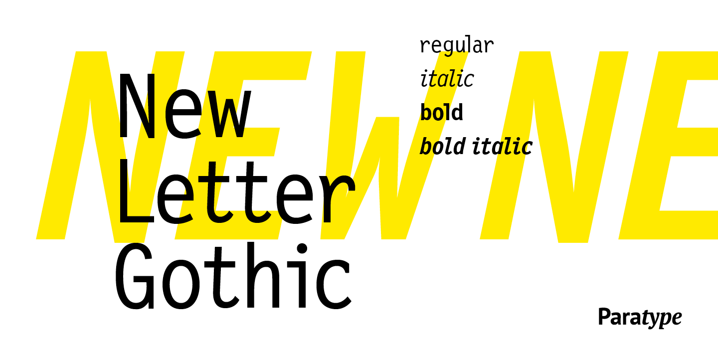 New Letter Gothic