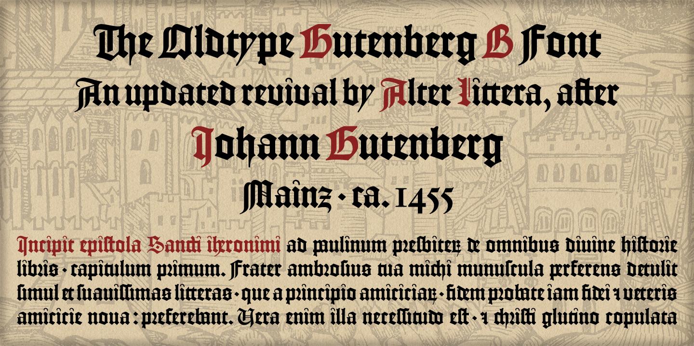Best sellers premium fonts page 248 urban fonts -  Gutenberg B Gutenberg B