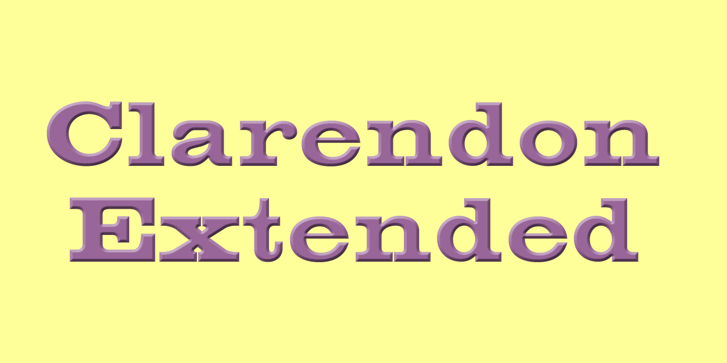 Clarendon Extended