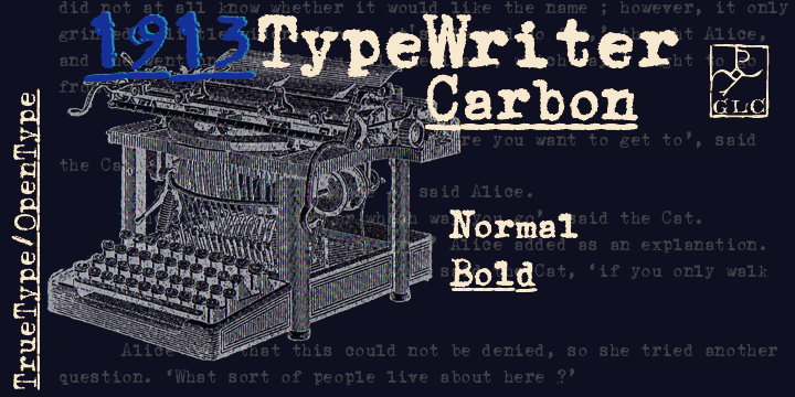 1913 Typewriter Carbon