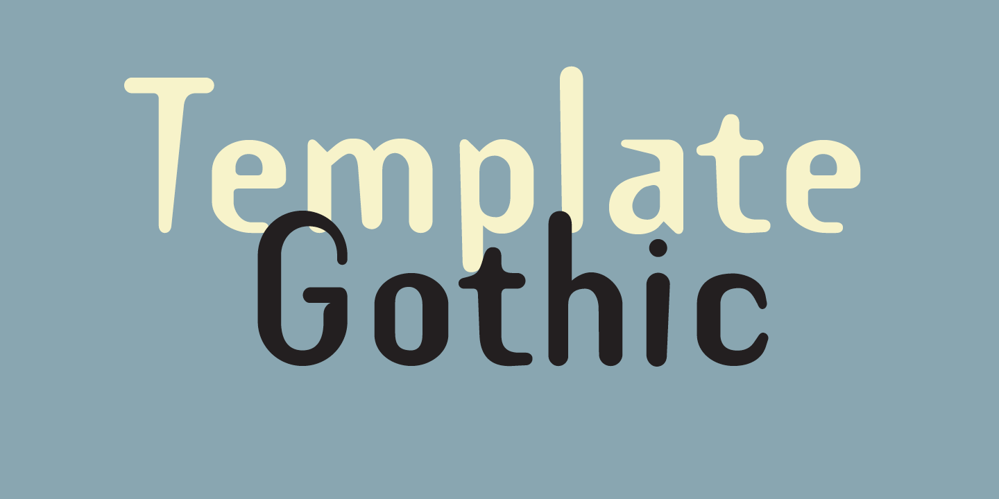 Template gothic premium font urban fonts for Template gothic font free