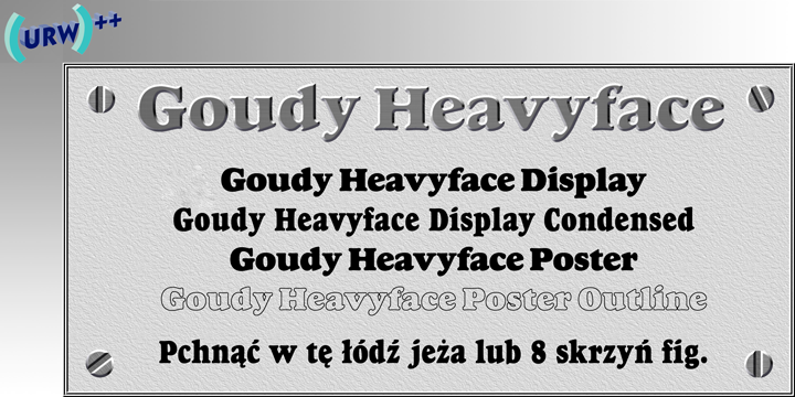 Goudy Heavyface