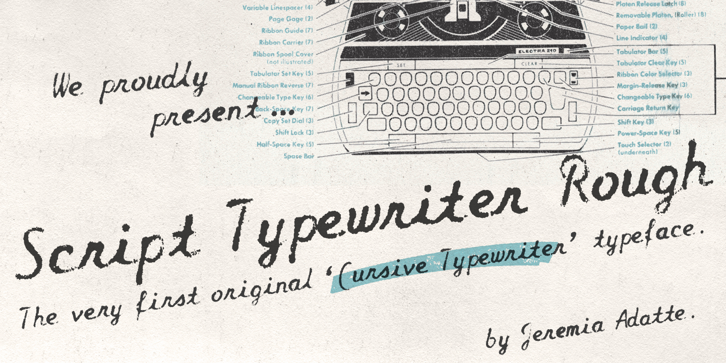 Script Typewriter Rough