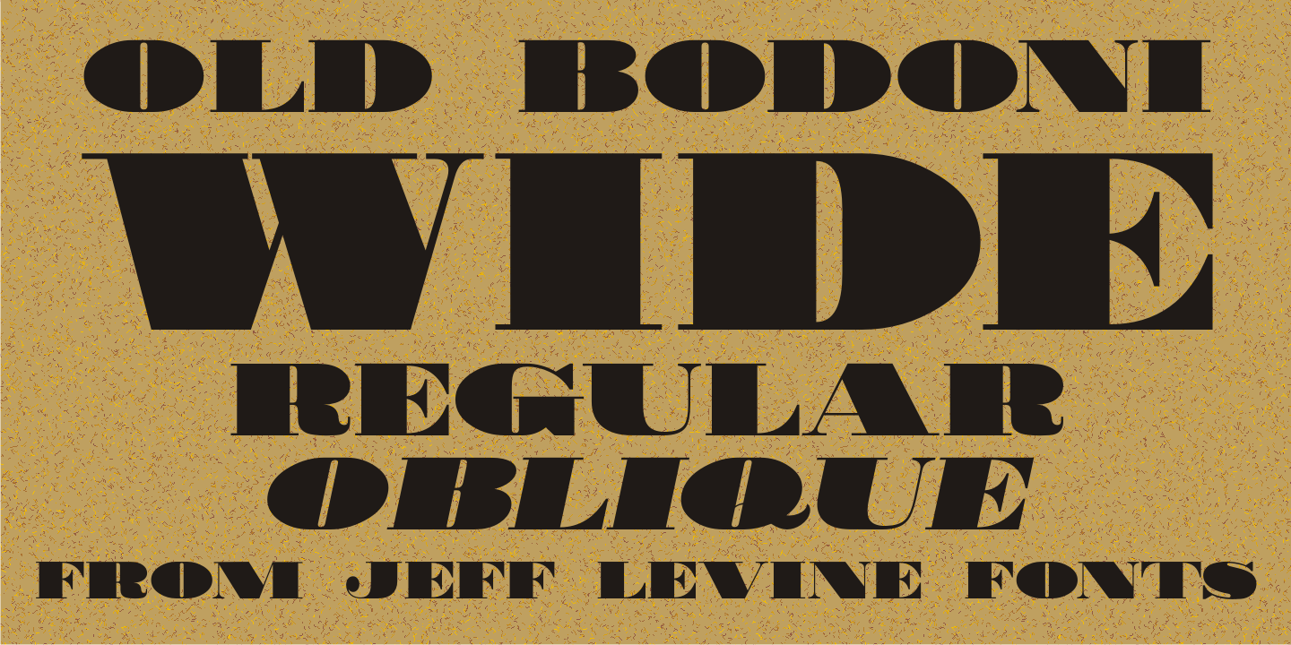 Old Bodoni Wide JNL