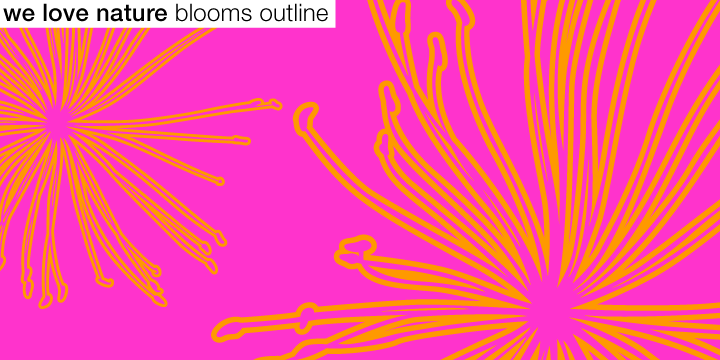 We Love Nature Blooms Outline