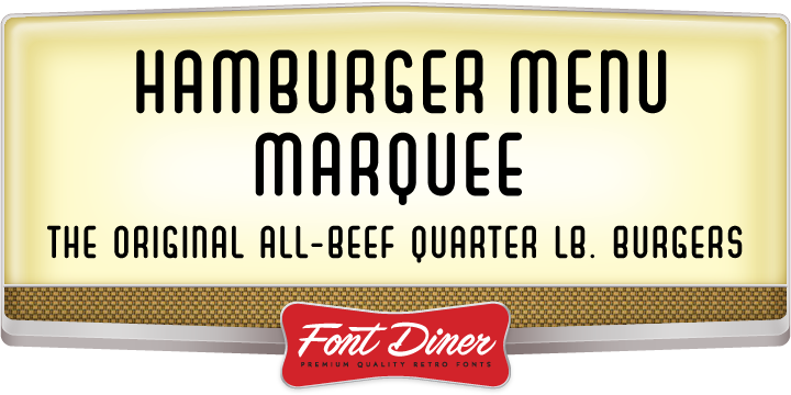 Hamburger Menu Marquee
