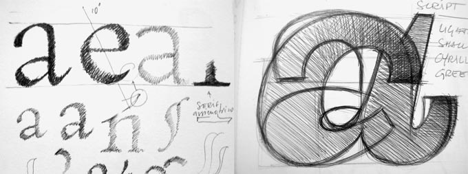 letterform sketches