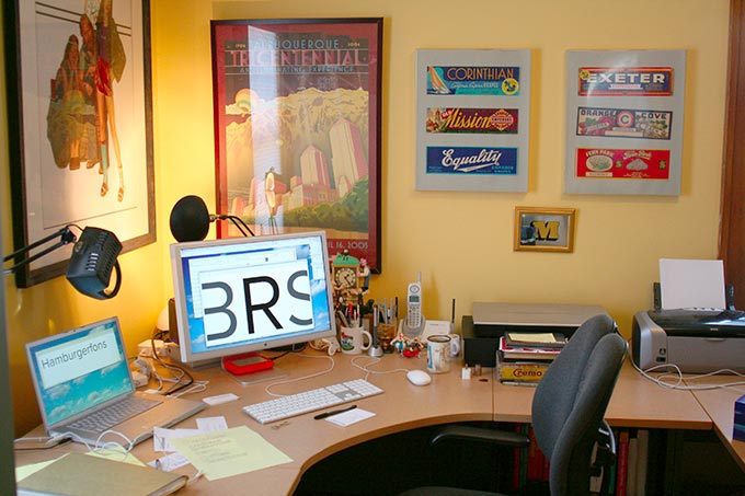 Mark's workspace