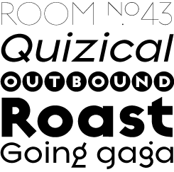 Regulator font sample