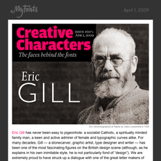 Eric Gill interview, April 1, 2009
