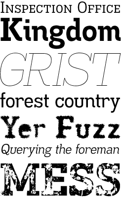 Madawaska font sample
