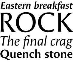 Angie Sans font sample