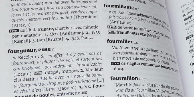 Larousse dictionary pages