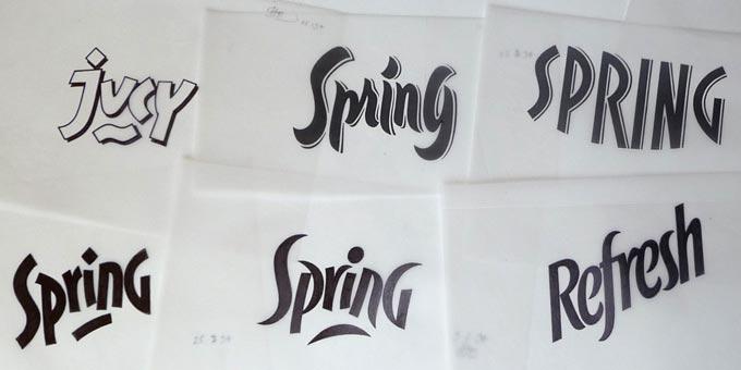 Lettering samples