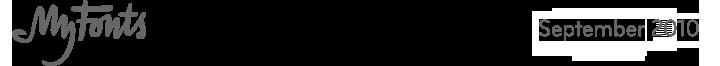 MyFonts, September 2010