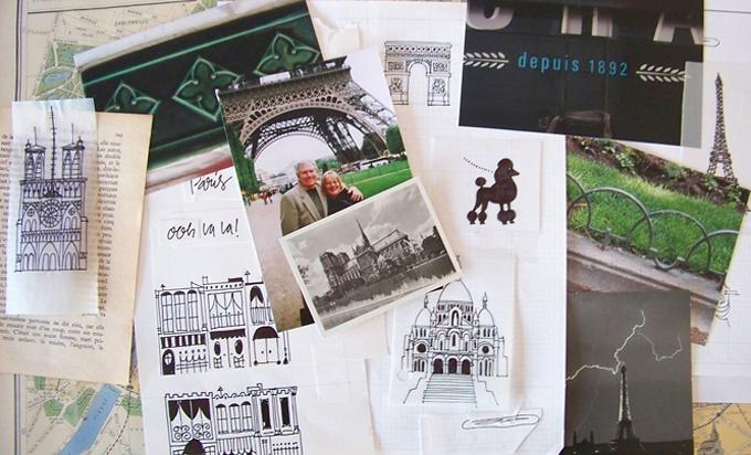 Raes Paris scrapbook