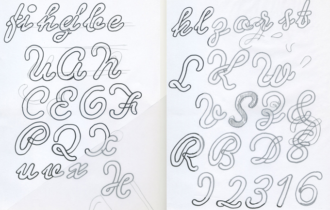 Development sketches for Dearest John