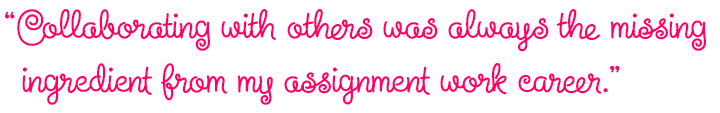 Pull-quote set in Steinweiss Script